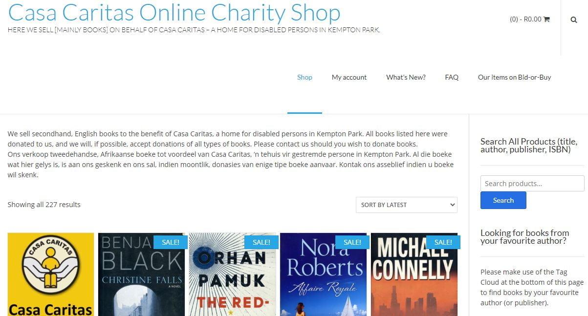 Casa Caritas Online Charity Shop