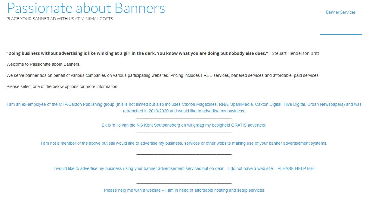 Passionate about Banners